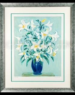 Lily in blue pot - Cottavoz 1991