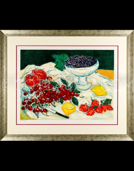 Fruits Still life - Cottavoz 1991