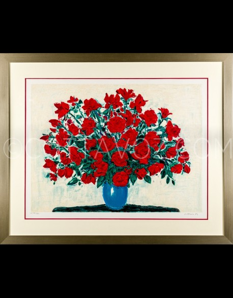 Large bouquet of roses- Cottavoz 1992
