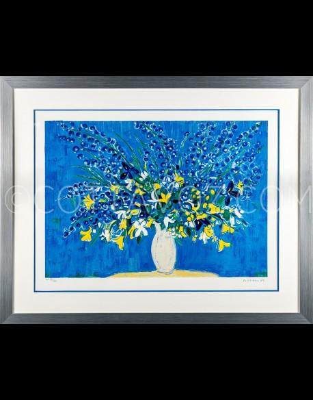 Le bouquet sur fond bleu - Cottavoz 2001