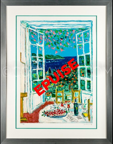 Flowery lunch at window 1997 - NOT AVAILABLE