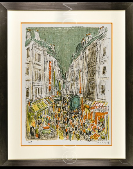 Paris Montorgeuil street - Cottavoz 1973