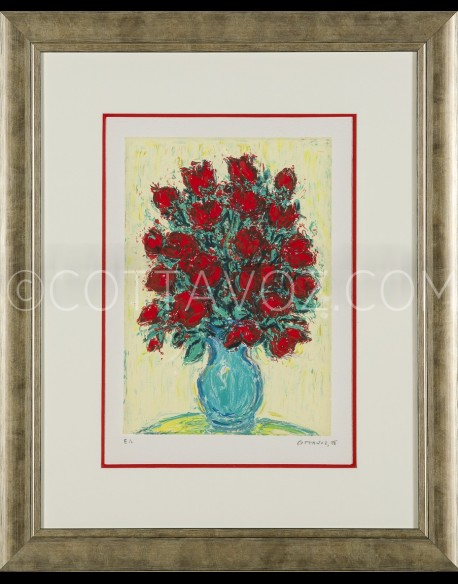 bouquet of red roses_Cottavoz 1998