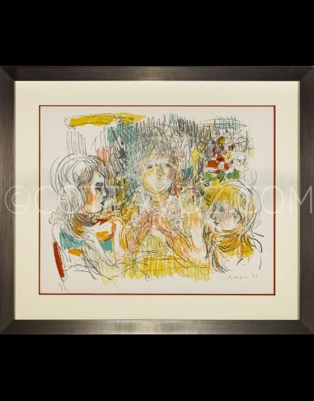 La famille - la partie de carte - Cottavoz 1973