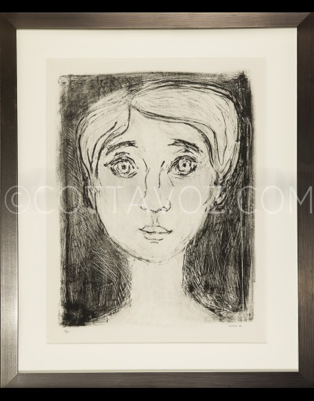 Portrait Muriel - Cottavoz 1966