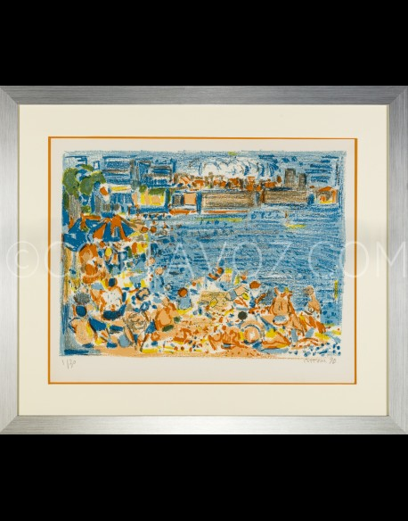 Beach of Antibes Color - Cottavoz 1970